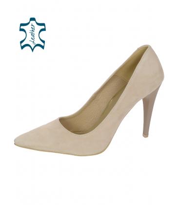 Elegáns bézs cipő DLO016-1