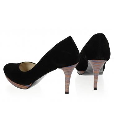 Fekete platformos magassarkú cipő 419 - II. osztály