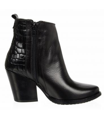 Fekete western bokacsizma kroko mintával DKO4487