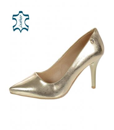 Arany elegáns alkalmi cipő DLO944-861