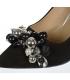 Fekete alkalmi cipő gyöngyökkel DLO2118-114