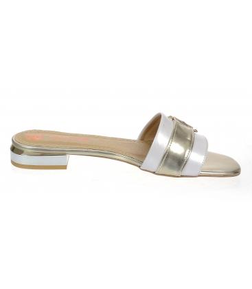 Fehér arany papucs DSL2141 arany díszítéssel