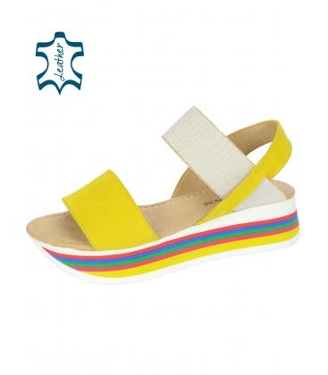 Sárga szandál, színes talppal DSA3081