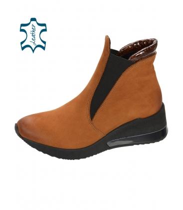 Fekete bőr bokacipő DKO3022
