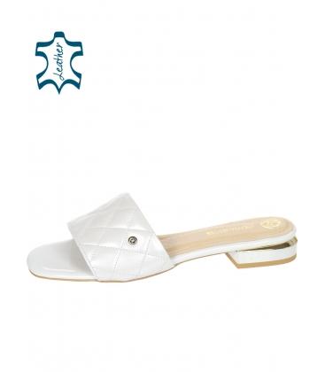 Ezüst papucs steppelt résszel DSL2206