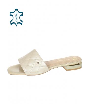 Bézs papucs steppelt résszel DSL2206