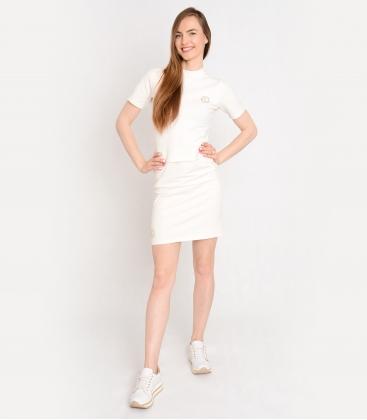 Fehér póló díszítő kövekkel OL