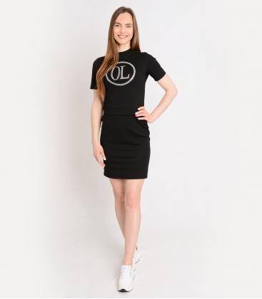 Fekete sportruha dekoratív kövekkel OL ELISS