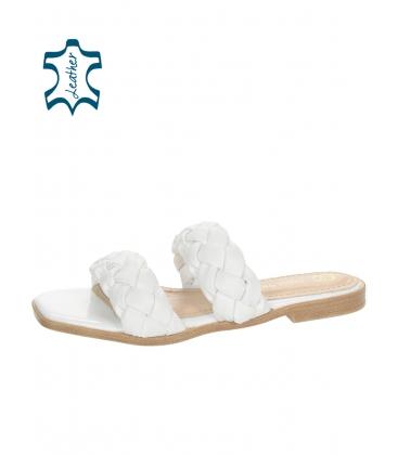 Fehér bőr papucs DSL2261