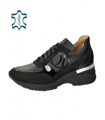 Fekete egyszerű cipők a talpán TAMIRA DTE3307