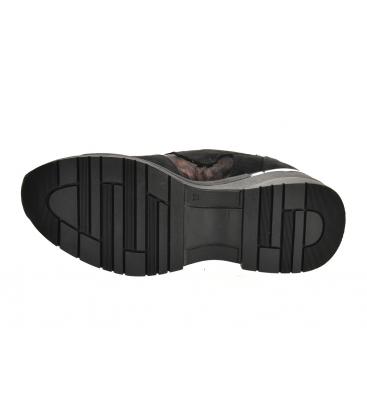 Fekete cipők bordó álcázás mintával a talpán TAMIRA DTE3307