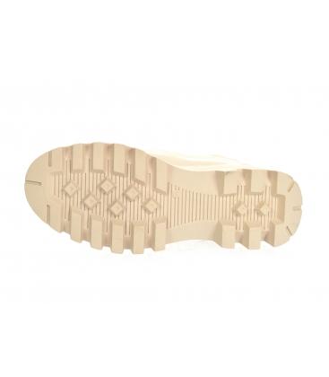 Bézs bokacsizma rugalmas anyaggal DKO2276