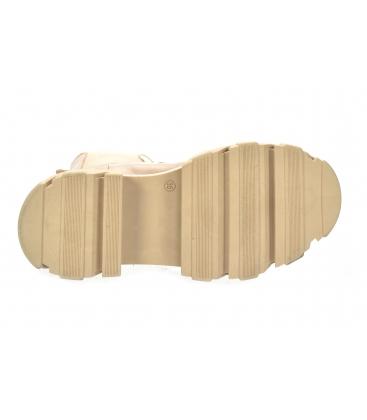 Bezs alacsony csizma rugalmas anyaggal 8120