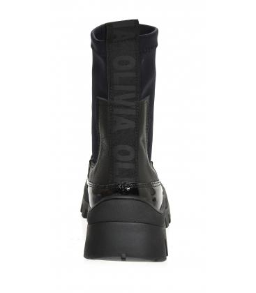 Fekete bokacsizma rugalmas anyaggal DKO2276